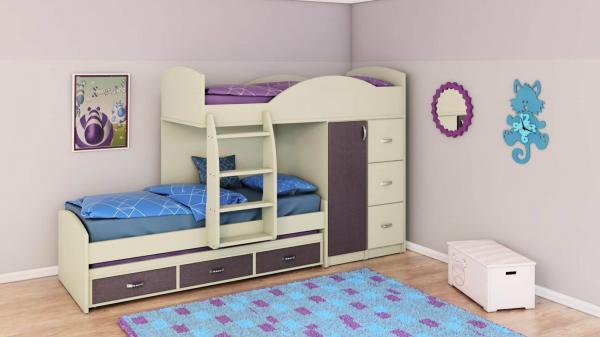 מיטות קומותיים דגם A254