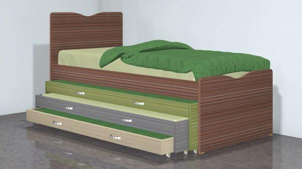 מיטה משולשת דגם 278