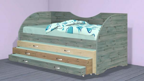 מיטה משולשת דגם 282-2