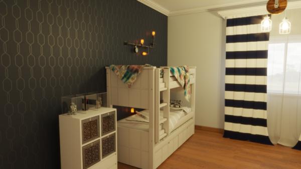 מיטת ילדים קומותיים דגם אופיר